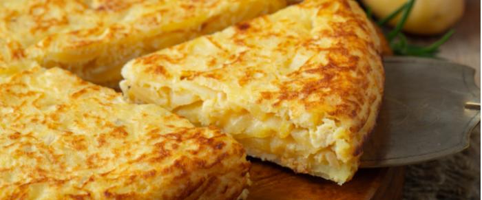 İspanyol Mutfağının Kahvaltı Lezzeti Patatesli Omlet